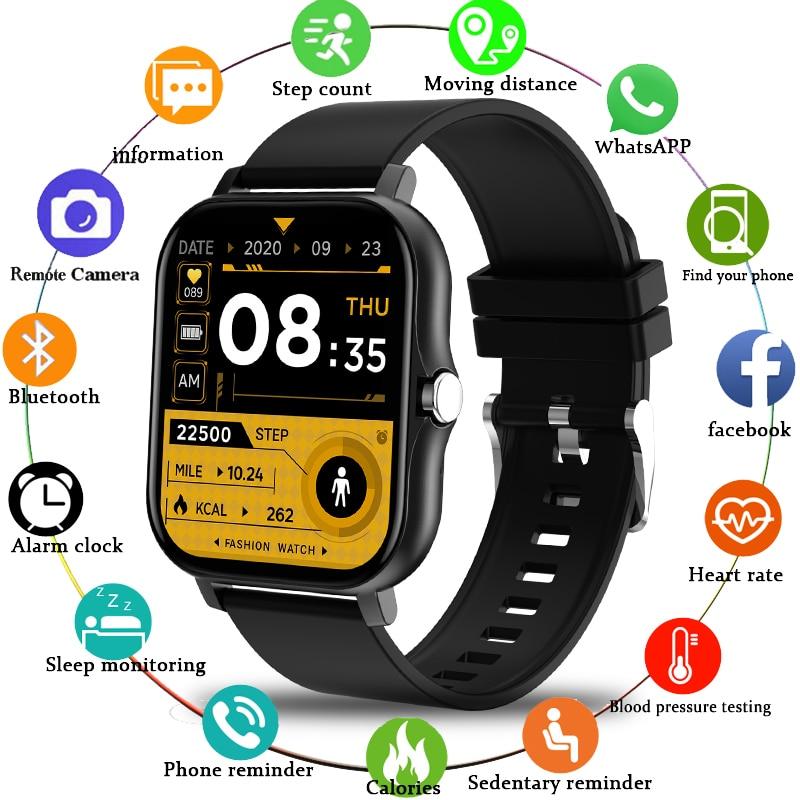 LIGE 2021 Smart Watch Men Bluetooth Call 1.69 Inch Full Touch Fitness Tracker IP67 Waterproof Women Smartwatch For Xiaomi Huawei