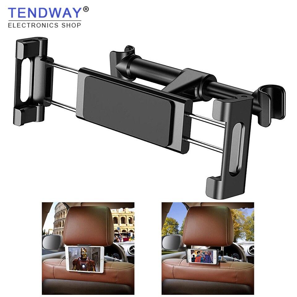 Suporte traseiro de banco para carro, suporte para tablet para ipad air mini pro iphone xs x samsung montagem 360 rotação