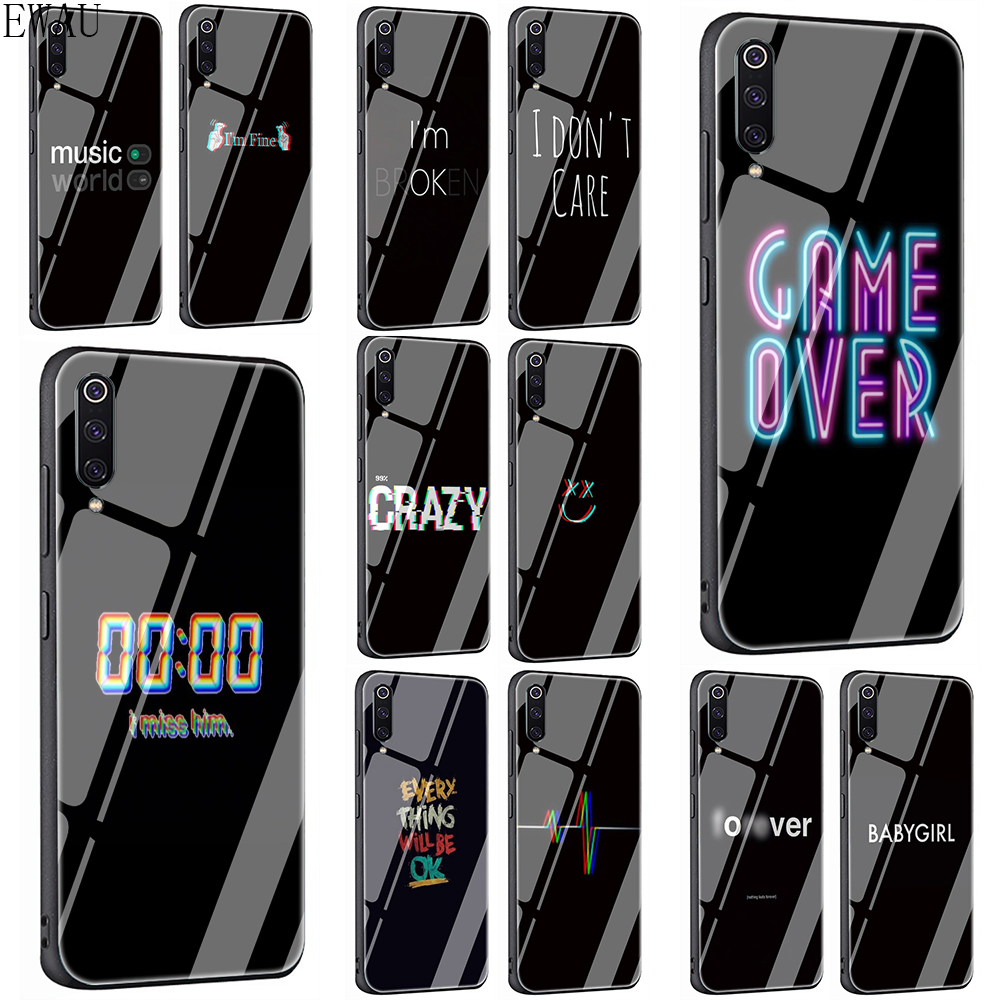 ewau-color-text-on-a-black-background-tempered-glass-phone-case-for-xiaomi-5x-6x-8-lite-9-a1-a2-font-b-f1-b-font-redmi-4x-6a-note-5-6-7-pro
