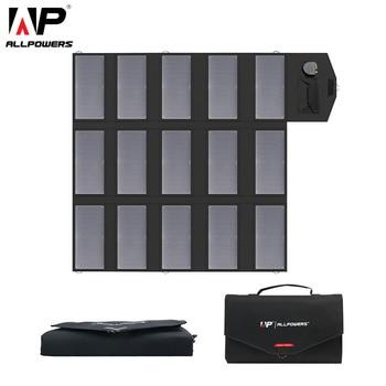 Портативное зарядное устройство ALLPOWERS 100 Вт, 18 в, 12 В, складная солнечная панель, солнечное зарядное устройство для мобильных телефонов iPhone, н...