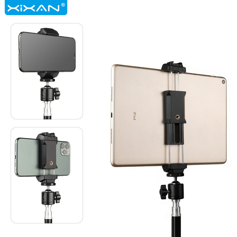 Mobile Phone Tablet Clip Tripod Gimbal Selfie Stick 10.5 Inch Clamp Universal Adjustable Clips Fixed Bracket Tripod Accessories