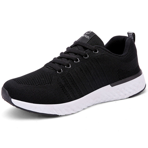 Image 2 - Fashion Tennis Shoes Woman Breathable Mesh Black Zapatos Mujer Comfort Lace up Soft Female Outdoor Light Gym Sport Sneaker Flats