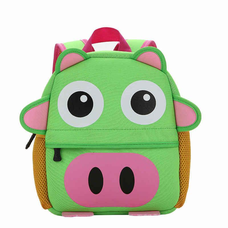 Mini mochila bonito do miúdo da criança mochila do jardim de infância mochila 3d dos desenhos animados saco animal crianças multi-função pequena escola mochila