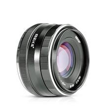 Meike 50 мм f2.0 с широкой диафрагмой и ручной фокусировкой APS-C для Olympus Panasonic Lumix M4/3 GM1 GM2 GX1 GX2 GX7 GX8 GF5 GF6 G7 G9