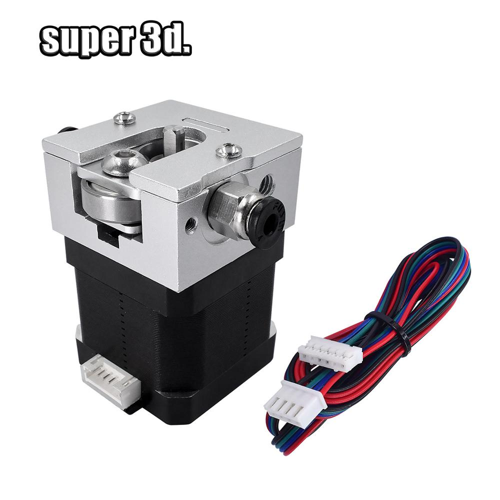 3D Printer Bulldog Extruder DIY kit Bowden All metal sliver 1 75 3 00mm Aluminum with Nema 17 Stepper motor for Reprap mk8 e3d