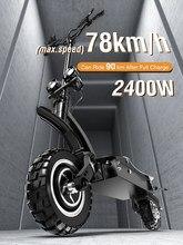 Janobike 2400W Scooter électrique mise à niveau système d'amortissement 78km/h double moteur e-scooter kilométrage Max 90km 35kg NUTT frein hydraulique