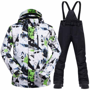 Ski Suit Men Winter New Outdoor Windproof Waterproof Thermal Snow Jacket And Pants Clothes Skiing And Snowboarding Suits Brands - DISCOUNT ITEM  40 OFF Sports & Entertainment
