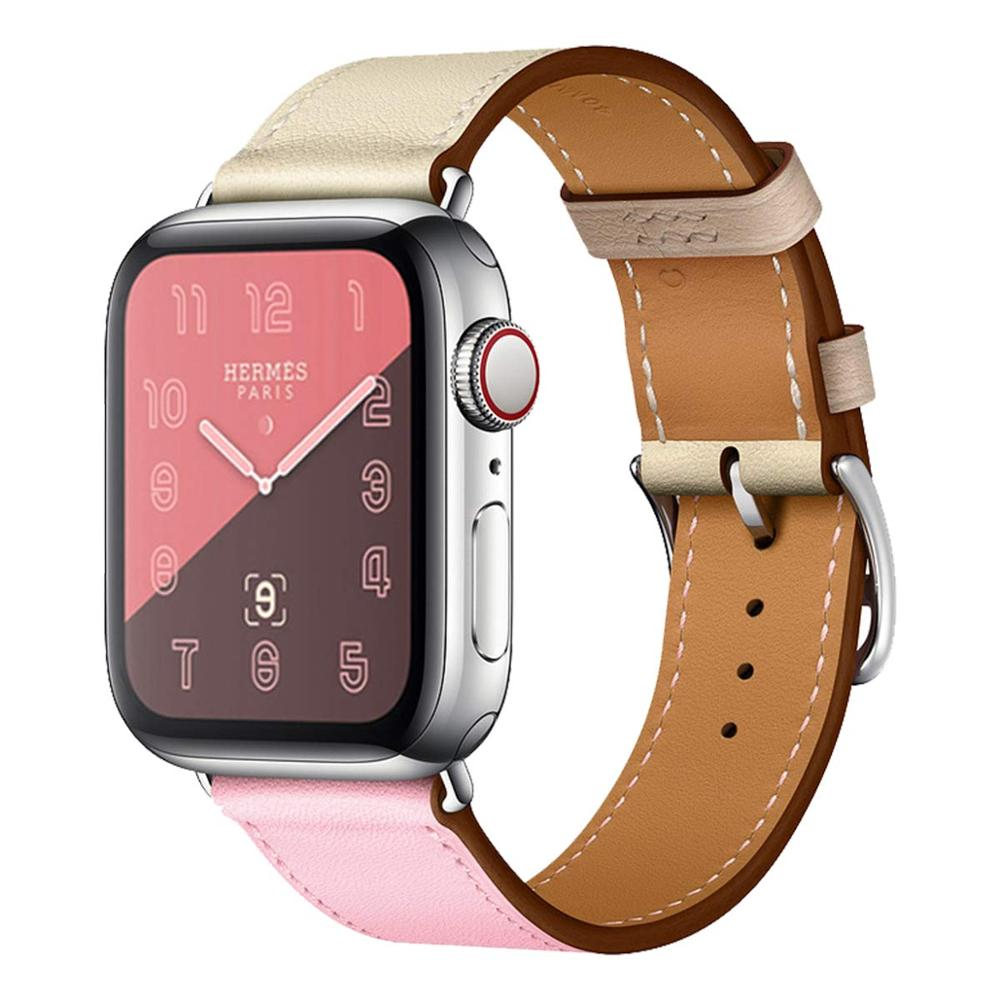 Foloy Band For Apple Watch Series 3/2/1 Sport Bracelet 42 Mm 38 Mm 44mm Strap For Iwatch 4 Band Leather Loop
