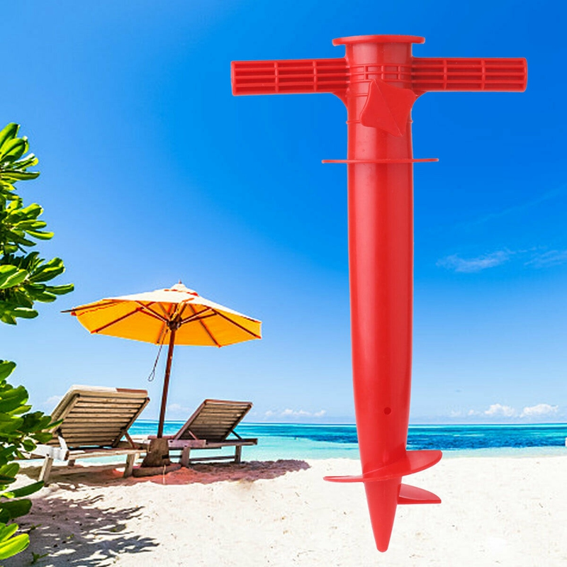 Outdoor Sun Beach Umbrella Holder Spike Fishing Pole Patio Parasol Ground Anchor Rain Gear Spikes Plastic Fishing Stand Auger Ho in Outdoor Tools from Sports Entertainment