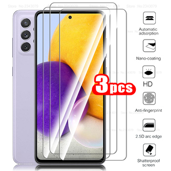 for samsung a 72 5g case 3pcs tempered glass for samsung galaxy a72 a 72 72a protective glass phone cover samsun sansung glass 1