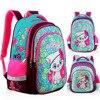 Novo ortopédico menina mochila para a escola 3d gato dos desenhos animados meninas eva sacos de escola crianças primária grau 1-5 crianças saco