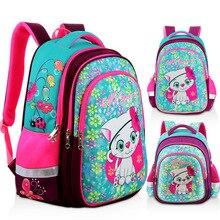 New Orthopedic Girl Backpack For School 3D Cartoon Cat Girls EVA School Bags Children Primary School Grade 1 5 Kids Bag