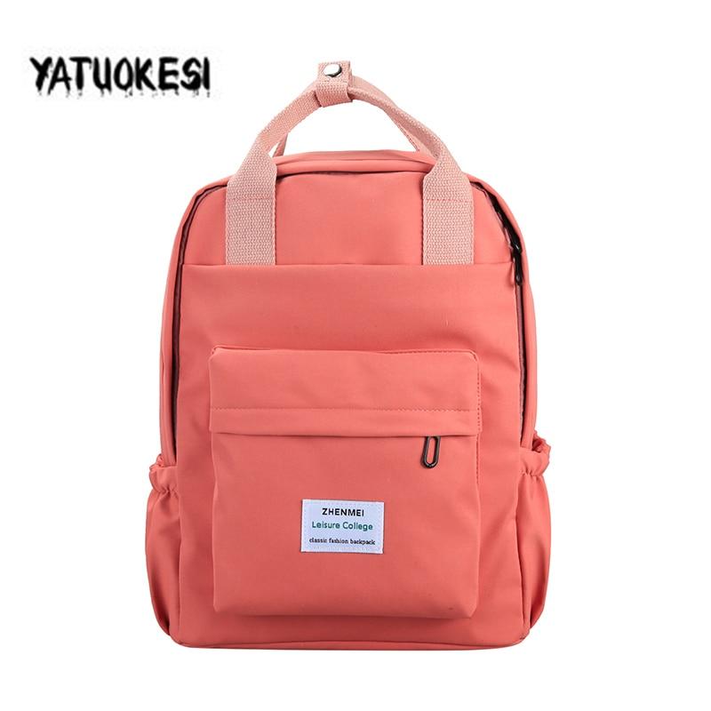 2020 Women's Backpack Female Fashion Canvas  Backpack For Teenagers School Bag Travel Backpack Large Capacity Mochila Femini