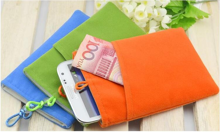 "Good quality Universal 5.8"" smart Phone Bag Pouch velvet Fabric Case for iphone 6/7 plus S7edge GX8 xiaomi 4c mi5 oneplus2/3"