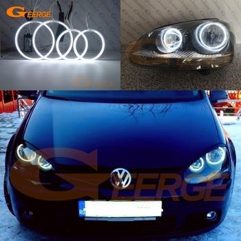 цена на For VOLKSWAGEN VW golf 5 V mk5 2005 2006 2007 2008 2009 Excellent CCFL Angel Eyes kit halo rings Ultra bright illumination