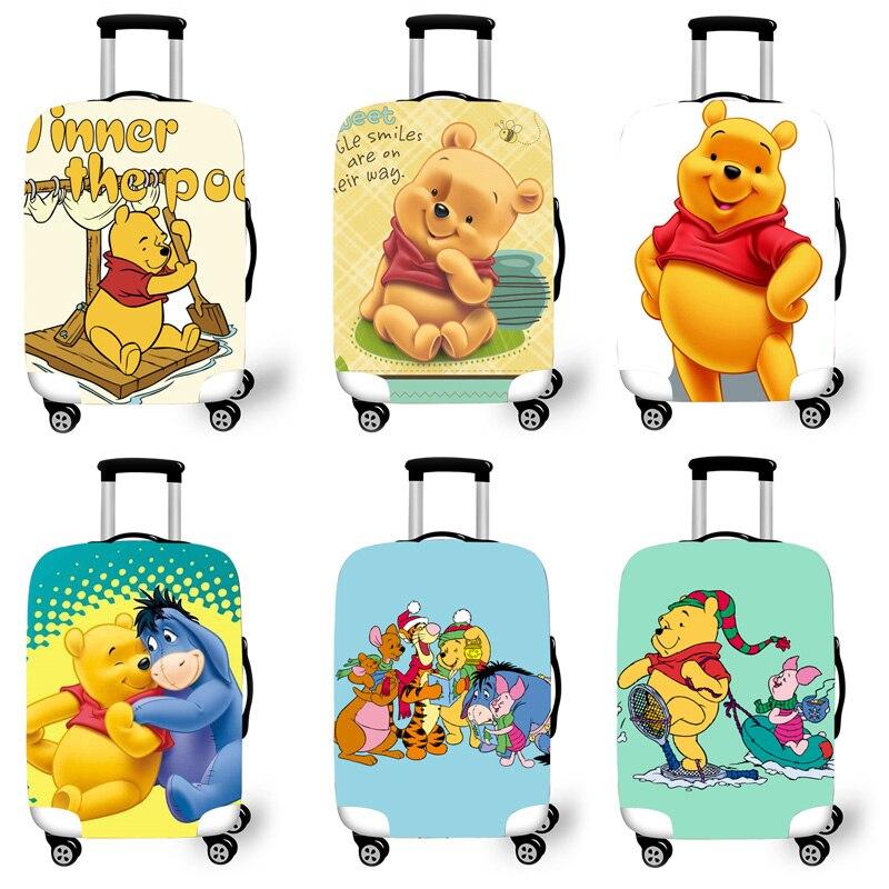Protetora para Cases do Trole Acessórios de Viagem Bagagem Elástica Case Capa Mala Protetora Covers 3d Padrão Pooh T620