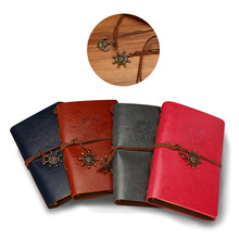 Artificial PU Pirate Notebook Diary Strap Planner Replaceable Stationery Vintage Classic Spiral Journal spiral notebook newest diary book vintage pirate anchors pu leather note book replaceable xmas gift traveler journal