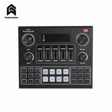 Новая внешняя звуковая карта для аудио студии 35 мм Микрофон