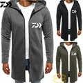 Daiwa термальная рыболовная куртка, однотонная хлопковая одежда средней длины для рыбной ловли, Мужская Толстая бархатная Спортивная одежда ...