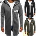 Daiwa thermique veste de pêche solide coton moyen Long poisson vêtements hommes épais velours fermeture éclair randonnée Sports de plein air vêtements