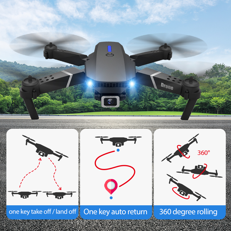 E525 PRO RC Quadcopter Profissional Obstacle Avoidance Drone Dual Camera 1080P 4K Fixed Height Mini Dron Helicopter Toy 5