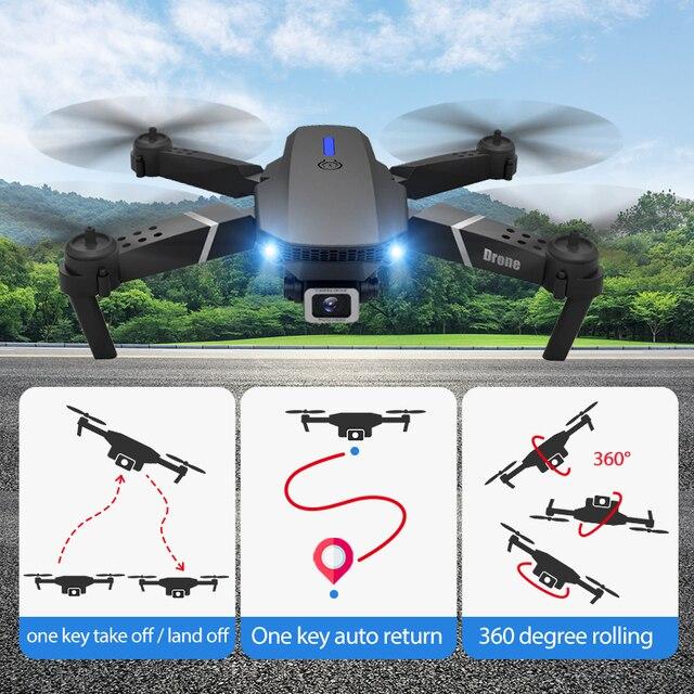 E525 pro rc quadcopter profissional obstáculo evitar zangão câmera dupla 1080p 4k altura fixa mini dron helicóptero brinquedo 5
