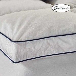 Image 3 - Chpermore 100% ホワイトグースダウン羽毛マットレス10センチメートル5星ホテル肥厚畳綿マットレスカバーキング女王サイズ
