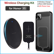 Wireless Charging for Huawei Honor 9S Qi Wireless Charger+Micro USB Receiver Charging Adapter Gift Phone Case for Honor 9S 5.45