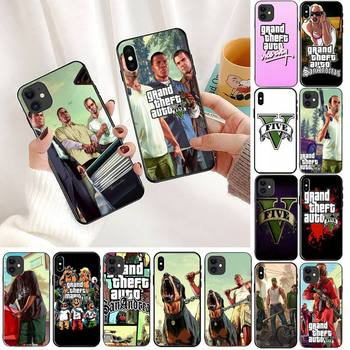 YNDFCNB Grand Theft Auto Shell Phone Case For iPhone 11 8 7 6 6S Plus X XS MAX 5 5S SE 2020 XR 11 pro Cover image