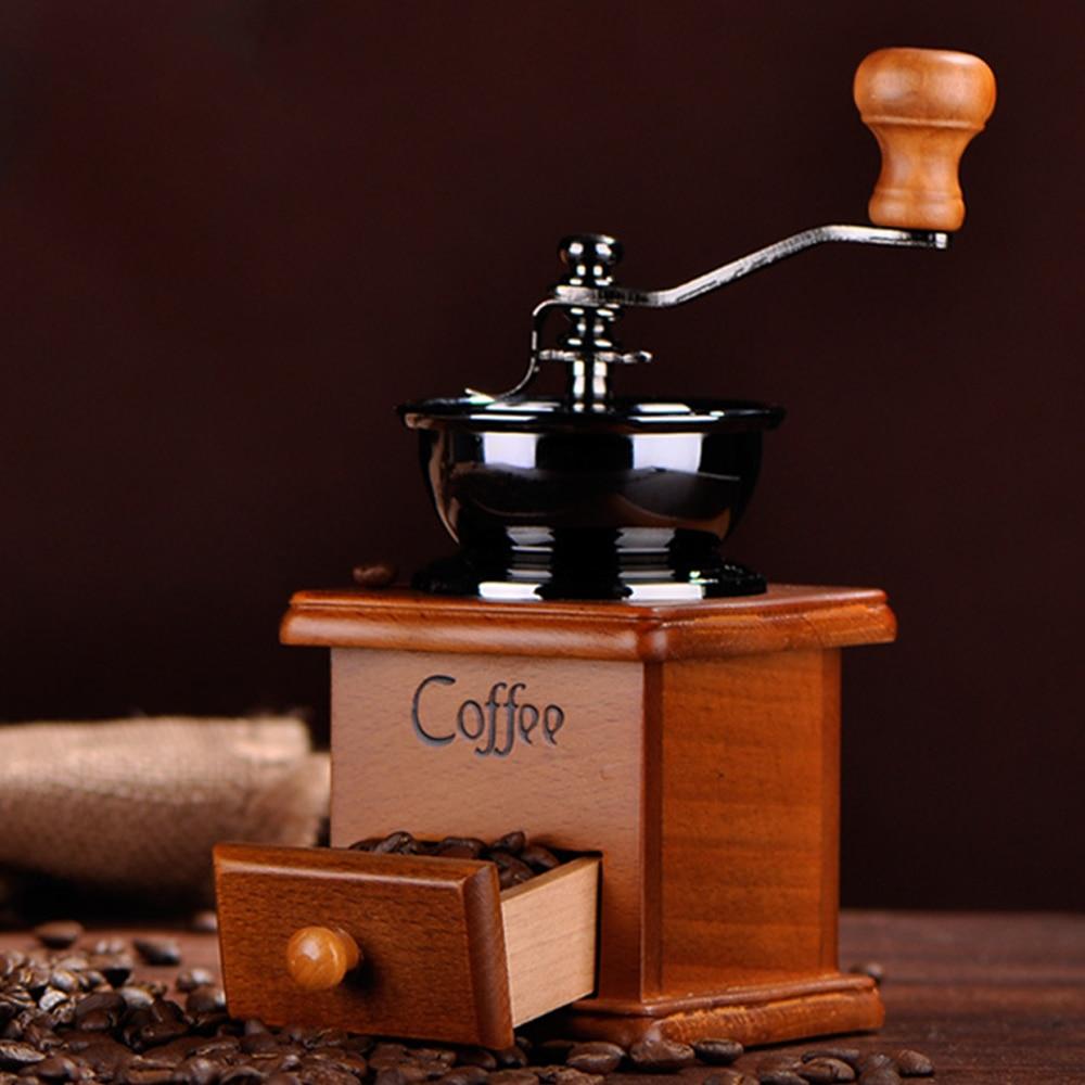 Coffee Grinder Machine Manual Coffee Grinder Hand Grain Grinder Wood Machine