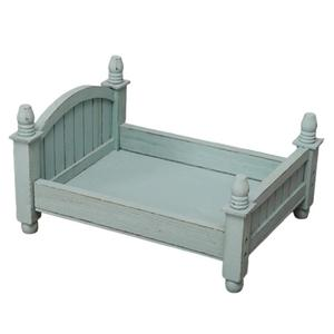 Image 3 - 4 Colors Baby Small Photography Bed New Photo Studio Photography Props Newborn Small Wooden Crib For Baby Boys Girls