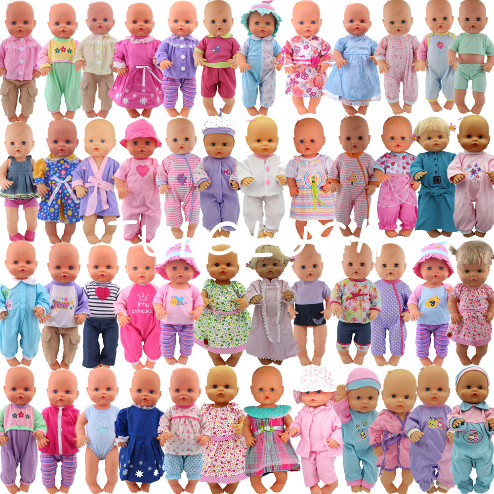 20pcs/set Leisure Set Clothes Fit 42 Cm Nenuco Doll Nenuco Y Su Hermanita Doll Accessories