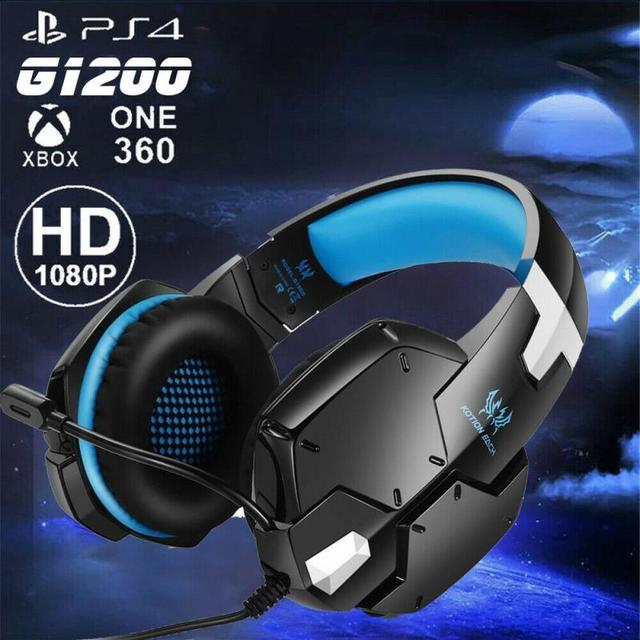 G1200 Gaming Headset Gaming Quality Stereo Surround Sound With Microphone For PC PS4 XBOX 3.5 Mm Headphone Jack 1