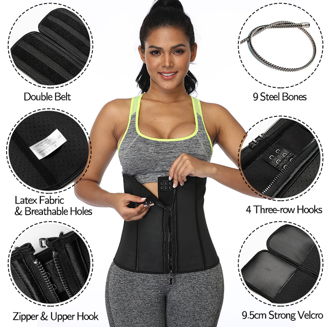 Latex Waist Trainer Weight Loss Sweat Corset Women Slimming Body Shaper Sport Girdles Workout Belts Slim Fajas Modeling Straps 4