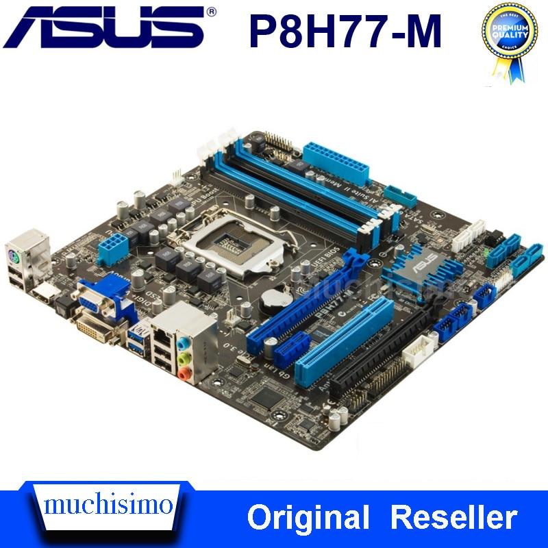 Used Original Asus P8H77-M Mainbaord LGA1155 Intel H77 DDR3 32GB PCI-E 3.0 Core i7/Core i5/Core i3 H77 Asus P8H77 Motherbaord