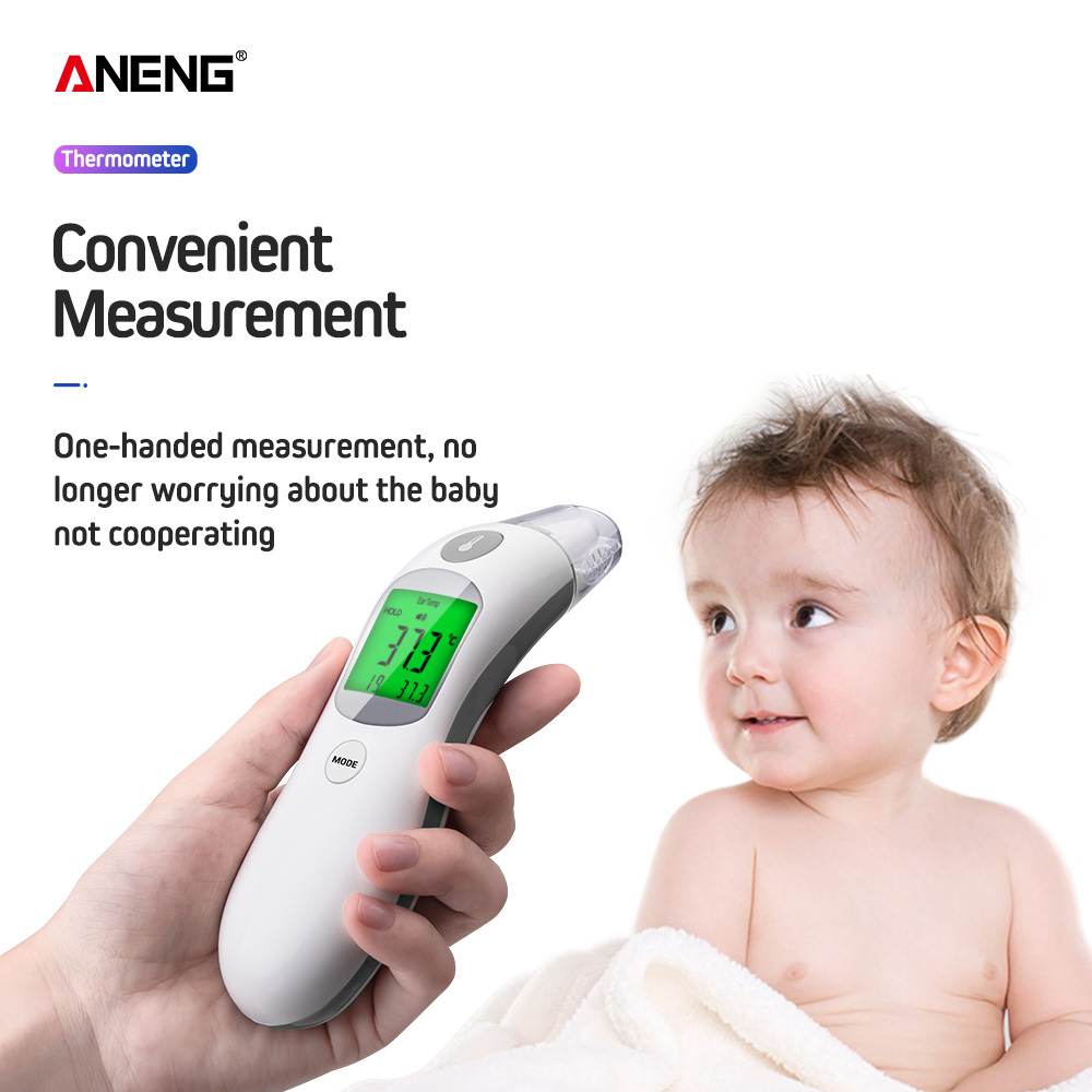 Baby Infant Ear Forehead Digital Thermometer Fever Alert Temperature Meter Wide