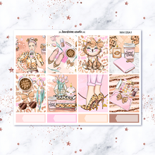 Kawaii 7sheets/pack Fashion girl Weekly Label Decorative Stationery Sticker DIY Planner Diary Scrapbooking Album Stickers(China)
