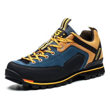 Men Hiking Shoes Waterproof Leather Shoes Climbing Fishing Shoes New Popular Outdoor Shoes Men High Top antiskid Boots