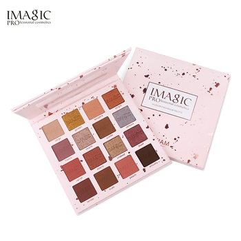 IMAGIC 16 Color Shimmer Glitter Eye Shadow Powder Matte  Pigmented Eyeshadow Waterproof Professional Make up Palette 35 color glitter metallic eyeshadow palette shimmer diamond pressed pigment matte eye shadows make up palette powder maquiagem