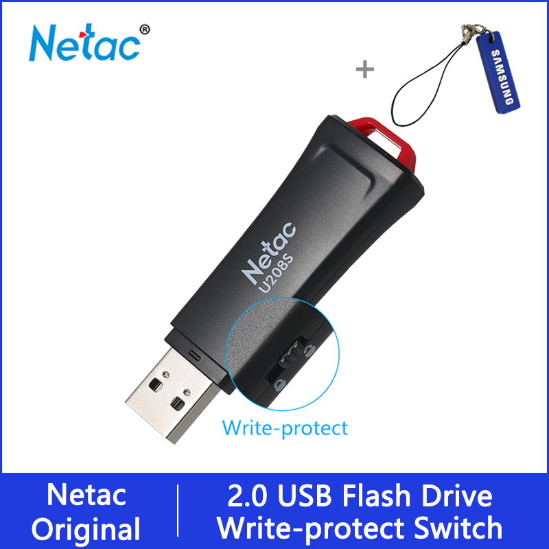 Lecteur Flash USB Netac 32 16 GB protection d'écriture clé USB chiffrée 32gb 16gb lecteur de stylo 2.0 clé USB disque sur clé mémoire pour téléphone |