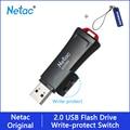 USB флеш-накопитель Netac 32 16 ГБ защита записи зашифрованный Флешка 32 ГБ 16 ГБ флеш-накопитель 2,0 USB флешка диск на ключе памяти для телефона