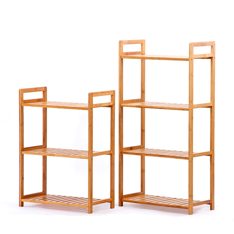 Many Shelf Originality Shower Room Frame Flower Rack Woodiness Ground Indoor Simple And Easy Admission Storage Rack
