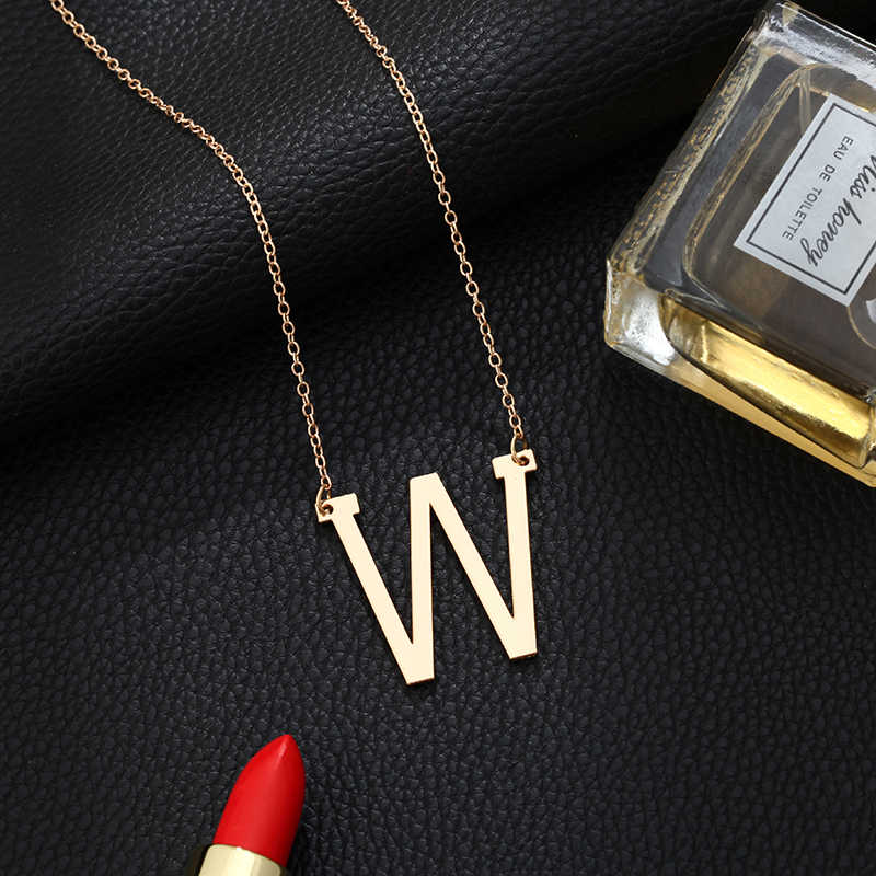 Personality Letter Necklace Big Choker Gold Pendant Initial Necklaces for Women Modern Accessories Collar Wholesale Dropshipping