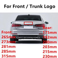 Эмблема АБС логотип для Audi A3 A4 A5 A7 A4L A6L TT R8 Q3 Q5 Q7 RS3 RS4 RS5 RS6 Передняя средняя 4 кольца решетка Знак багажнике автомобиля наклейки