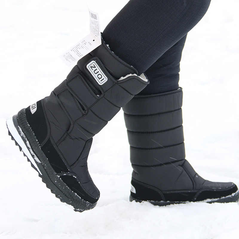 2019 New Winter Boots Men Snow Boots Thick Warm Plush Boots Platform Waterproof Boots Men Shoes Non-Slip Boots Plus Size 46 47