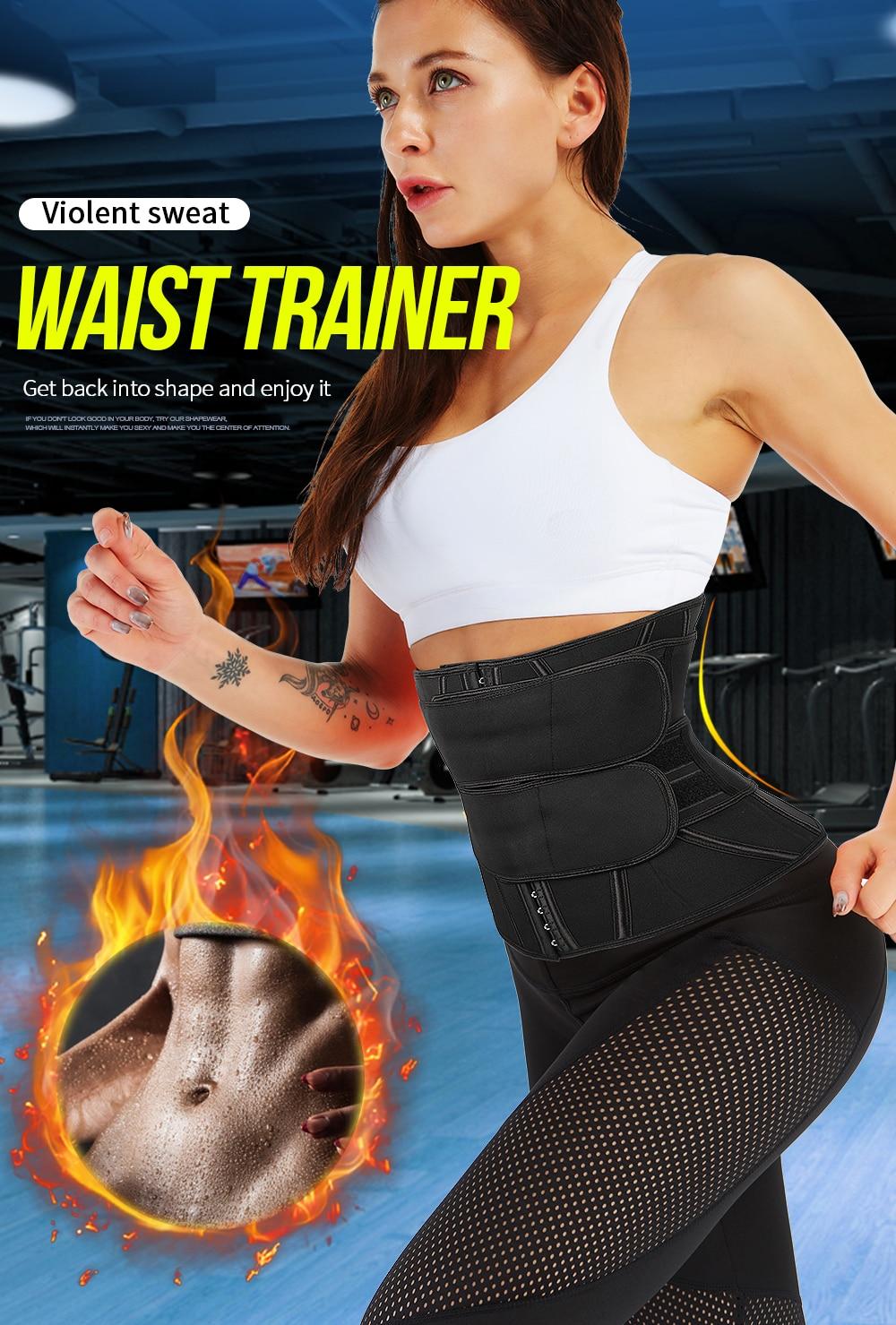 Women Body Shaper Latex Waist Trainer Slimming Belt Corset Modeling Strap Belts