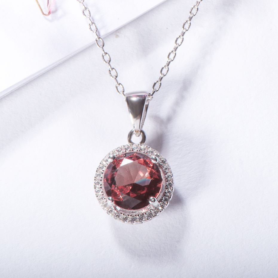 Kuololit Zultanite Gemstone Pendant For Women Solid 925 Sterling Silver Color change Necklace Diaspore Gemstone Fine Jewelry