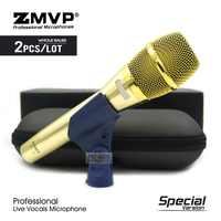 2pcs Special Edition KSM9 Professional Live Vocals KSM9G Dynamic Wired Microphone Karaoke Supercardioid Podcast Microfono Mic