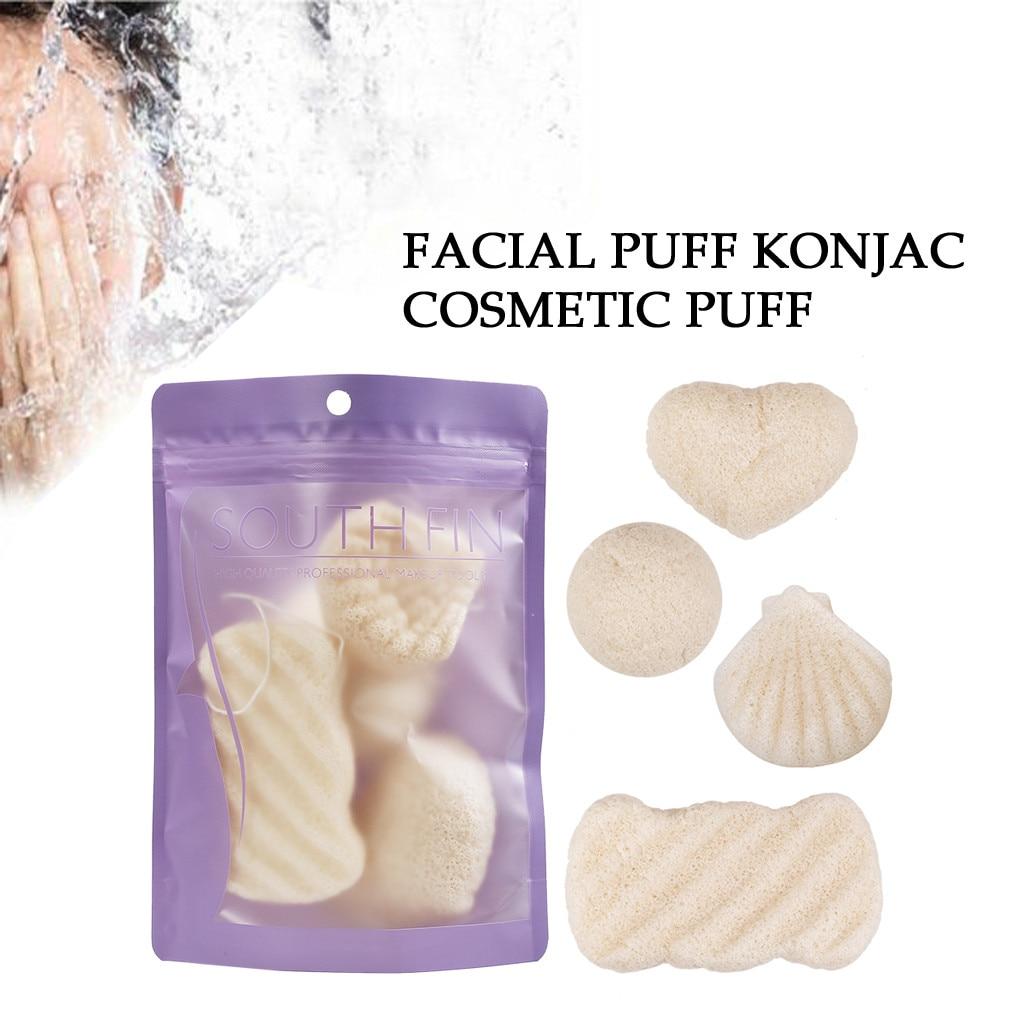 IBCCCNDC Natural Konjac Konnyaku Facial Puff Face Wash Cleansing Sponge Green Skin Care Shape Exfoliator Products Recommend