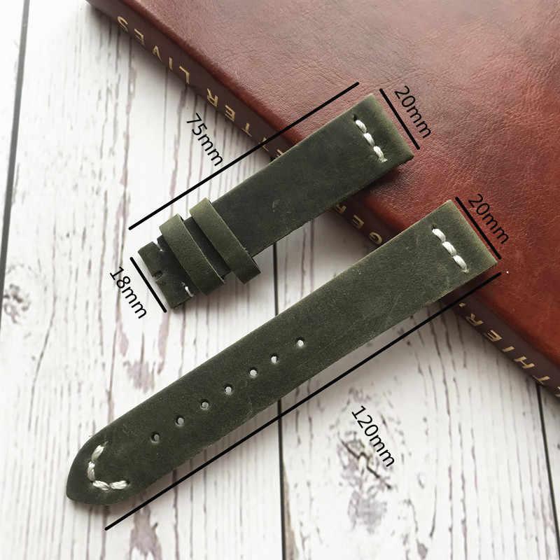 Cinturino in pelle Vintage PER IL RUOLO Sky-Dweller Pearlmaster Milgauss submariner 20 MILLIMETRI morbido meccanico degli uomini della cinghia del braccialetto accessori